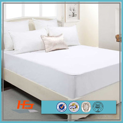 Hotel White Waterproof Elastic Fitted Mattress Protector/Cover