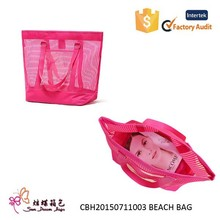 New arrive and the most popular polyester cheap beach bag, tote bag, mesh beach bag