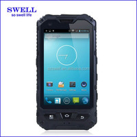 2015 New Product 4inch IP67 Android MTK6572 Dual Core 3G GPS ruggedized android smartphone