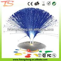 UFO flashing LED fiber optic light/party decoration centerpiece