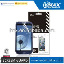 Mobile screen protector cover guard for Samsung galaxy s3 oem/odm (Anti-Glare)