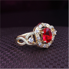 New hot sale type 18k gold jewelry inlaid indian ruby ring