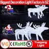 New product christmas decoration led light reindeer factory price led light reindeer