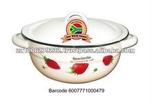 16CM Decorated Enamel Vegetable Dish
