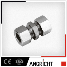 B301 compressings joint with nut brass straight coupler electrical connector quick coupling