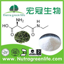 Pure natural organic Green tea extract, L-Theanine, factory supplier