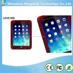 For Mini iPad case,metal & silicon & tempered glass cover for ipad mini,for Apple iPad mini accessory