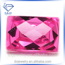2015 pink rectangle single checker cubic zirconia gemstones
