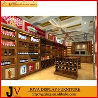 free design wine cabinets furniture used for red wine display shop