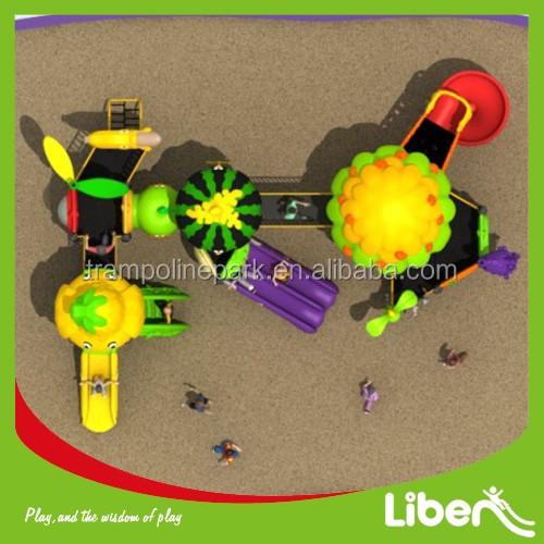 2016 прочный фрукты серии парк развлечений дети слайд открытая детская площадка оборудование