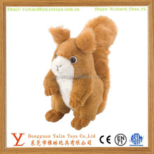 Most popular realistic plush stuffed animal toy soft squirrel 2015 lovely design for kids