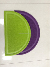 semicircle cat and dog litter catcher pvc pet mat