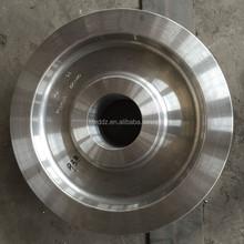 350mm 400mm diameter bridge crane wheels, steel rail wheel