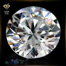 Factory Price of Round Cut White Cubic Zirconia Gemstone