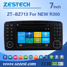ZESTECH 7 inch car dvd radio for benz NEW R300 dvd car radio with garmin gps navigation a/v in/out