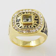 OEM Welcomed Big Stone 14k Gold Plated Basketball Men's Signet Ring