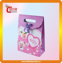 Wholesale cheap fancy recycled gift paper bag with custom