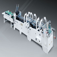 2015 Automatic high-speed paper box folding and gluing machine for sale