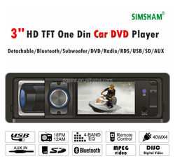 3 inch one din car stereo/ car DVD/car audio player/usb/sd/2 RCA
