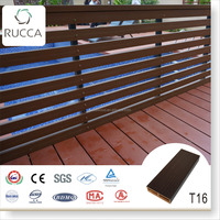 Outdoor Garden Fence 76X25mm Foshan Rucca WPC Wood Plastic Timber Logs as Exterior Pergola in the Sunshine
