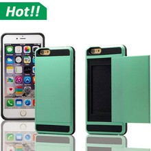Hybrid Hard Credit Card ID Holder Case Skin Phone Cover for iPhone 6 Plus