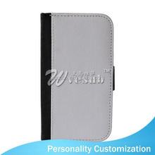 Sublimation leather wallet phone Case PU wallet 2014 new design cell phone case For Samsung