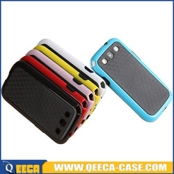 Dual color tpu pc armor case cover for samsung galaxy s3