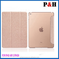 2015 new product Smart Tablet Leather Case Cover For Ipad 6 Ipad Air 2 With Stand