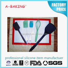 China Supplier New Product Easy Flex Heat resistant Silicone Spatula Set/kitchen utensils