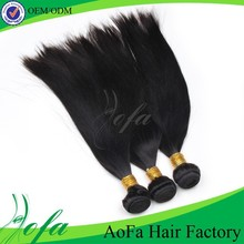 100% unprocessed indian virgin remy hair weft with factory price