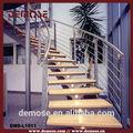 Led de luz de escalera/curvo escalera de madera