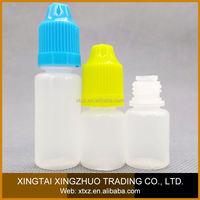 wholesale Top quality dropper smoke oil bottle 10ml e cig liquid bottle and plastic drip pipe for e cig oil