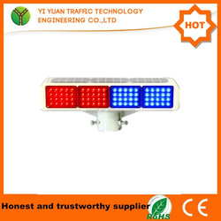 Stable performance LED lamp convenient installation waterproof flashing solar power led warning light