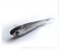 125mm8.5g various colour shad VMC Hook soft plastic fishing lures