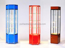 Modern glass store mobile phone showcase glass display cabinet