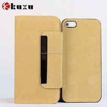 Genuine wallet flip leather case for smart phone with card holder slot mobile leather case
