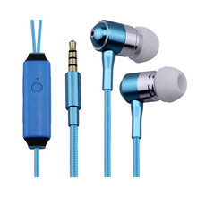 2015 hot selling with mini jack microphone led earphone