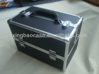 Hard black Aluminum tool Case with divider with file pocket XB-TL061