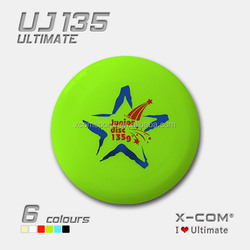 2014 new wholesale Glow Customed Printing PE plastic 135g whammo professional ultimate frisbee, good-quality for junior game