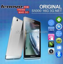 "Original Lenovo Tablet PC Phone S5000 3G WCDMA MTK8389 Quad Core 1.2GHz 7"" IPS 1280x800 Android 4.2 1GB+16GB GPS 1.6MP+5MP GPS"