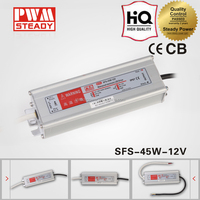 Ip67 waterproof 12v 40 watts led street light driver switching power supply