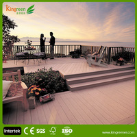 outdoor balcony material with wood plastic composite decking and railing for balcony flooring materials