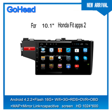 For Honda Fit 2015 10.1inch GPS MP3 3G WIFI Mirror Link Android 4.4 Capacitive Screen car Radio