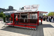 steel removable fast food kiosk container bar