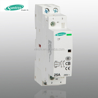CT modular contactor din rail mounted 2 Pole 25A Magnetic Electric Contactor