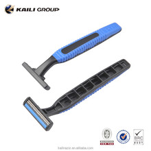 new product rubber handle 3 blade disposable razor,Gilette