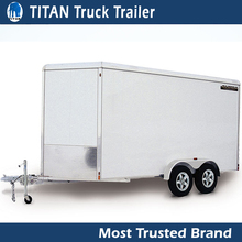 High quality aluminium box trailer with cage