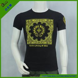cotton/spandex slim fit V-neck printing plate man polo t-shirt