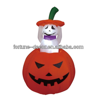 120cm Halloween inflatable pumpkin with ghost inside