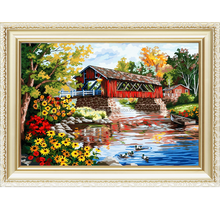 Diy craft handmade nature oil painting by numbers 40*50cm